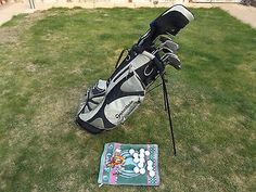 Full set of golf #clubs 3 #woods,9 iron/woods & putter in a #taylormade bag,  View more on the LINK: http://www.zeppy.io/product/gb/2/232103326309/