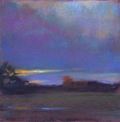 after the rains by Loriann Signori Pastel ~ 6 x 6