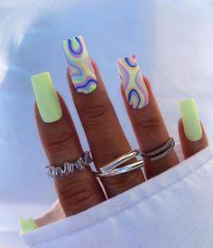 Bling Acrylic Nails, Acrylic Nails Coffin Short, Summer Acrylic Nails, Best Acrylic Nails, Acrylic Nail Designs, Summer Nails, Coffin Nails, Square Acrylic Nails, Pastel Nails