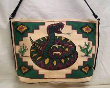 Purse, Southwest Rattlesnake Cotton with Zipper Closing