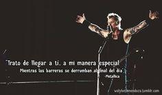 Metallica Metallica Pinterest Frases Frases Rockeras Y Frases