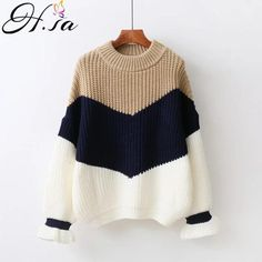 SA Winter Pull Sweaters Women 2017 Fashion Loose Jumpers Korean Pullovers Knitting Pullovers Thick Christmas Sweater Unif - Trends E-Shop Loose Sweater, Ribbed Sweater, Long Sleeve Sweater, Pullover Sweaters, Women's Sweaters, Sweater Shop, Sweater Cardigan, Jumpers For Women, Sweaters For Women