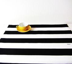 Tischläufer+Tischdecke+Decke+schwarz-weiß+50x140cm+von+filzz+&+co+auf+DaWanda.com