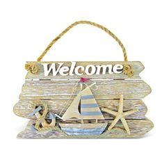 Puzzled Nautical Decor Collection Vintage Welcome Sign (Size: x x . - Puzzled Nautical Decor Collection Vintage Welcome Sign (Size: x x Multi - Nautical Signs, Vintage Nautical, Nautical Home, Nautical Craft, Vintage Beach Signs, Nautical Candles, Sea Crafts, Seashell Crafts, Nautique Vintage