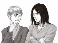 Grown up Armin and Eren
