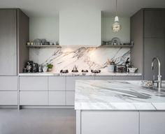 piet-jan-van-den-kommer-tailor-made-wooden-kitchen-worktop-made-from-marble-k - The world's most private search engine Luxury Kitchen Design, Luxury Kitchens, Home Kitchens, Tuscan Kitchens, Kitchen Interior, Kitchen Decor, Interior Modern, Modern Exterior, Interior Design