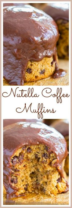 Ready in 30 minutes, chocolate and coffee come together in these dense, but moist mocha muffins, topped with a luscious Nutella ganache!