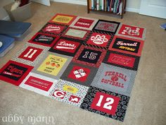 Crafts by Abby: T Shirt Quilt Tutorial