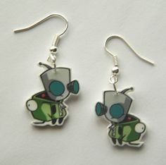 Invader Zim Gir from the Invader Zim in his dog suit  Novelty Earrings. $7.99, via Etsy.