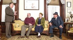 """JEFF LEE, Rob Stauffer, Amy Berger and Ron Dutton (l-r) all star in Fort Findlay Playhouse's production of Agatha Christie's classic murder mystery """"The Mousetrap,"""" being presented Sept. 15-18 and Sept. 22-24 at the playhouse. (Photo by Matthias Leguire)"""