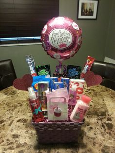 DIY Coworker Birthday Gift Basket