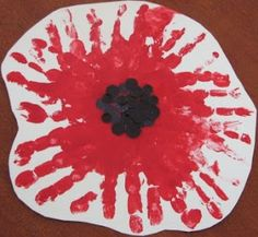 House of Baby Piranha: Anzac Day - Handprint Poppy Flower Poppy Craft For Kids, Art And Craft, Art For Kids, Remembrance Day Activities, Remembrance Day Poppy, Daycare Crafts, Toddler Crafts, Crafts For Kids, Crafts Toddlers