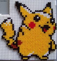 Pikachu Pokemon hama perler beads by Les Loisirs de Pat