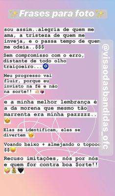 Instagram Blog, Instagram Story, Instagram Posts, Motivational Phrases, Texts, Barbie, Lettering, Quotes, Sentimental Quotes