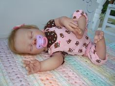 Reborn Baby Doll Heather Weighted girl or boy you by tracywhaley08. $260.00 USD, via Etsy.