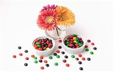 candy coated chocolate - safe for my kids!!