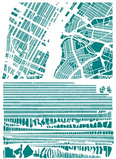 The Famous Grids of Iconic Cities, Deconstructed and Remixed | Brain Pickings - New York City