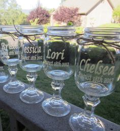 4 Customized Redneck Wine Glass Etched Set of by EtchedExpressions, $48.00