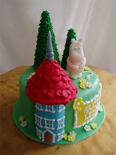Moomin Moomin themed cake where client requested moomin and his house. Halo Halo, Moomin, How Sweet Eats, Healthy Recipes, Healthy Meals, Themed Cakes, No Bake Cake, Macarons, Cake Toppers