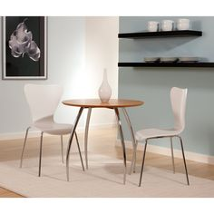 Euro Style Bistro 5 Piece Dining Set With Trendy Stackable Chairs