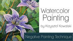Watercolor painting - Negative painting technique