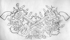 Gun Chest Piece Web | Tattoo Share