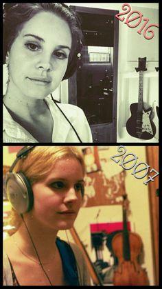 *Now & Then* Lana Del Rey in the studio (2016/2007) #LDR #Lizzy_Grant