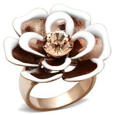 NZ67  Brass Flower Ring