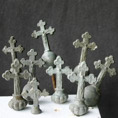 Gothic Crosses by MademoiselleChipotte Mabon, Samhain, Old Rugged Cross, Gothic Crosses, The Cross Of Christ, Altered Bottles, Casket, Crucifix, Angel Wings