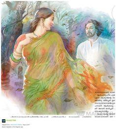 Sexy Painting, Black Art Painting, Painting Of Girl, Indian Women Painting, Indian Paintings, Indian Art, Fine Art Drawing, Art Drawings, Set Saree