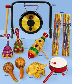 Instruments from Around the World Collection to appreciate the world around us
