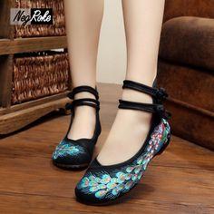 14.68$  Watch now - http://alidz9.shopchina.info/go.php?t=32598108678 - Hot sale summer Phoenix embroidery shoes women flats  fashion zapatos mujer flat oxfords shoes women sapato sexy feminino shoes  #bestbuy