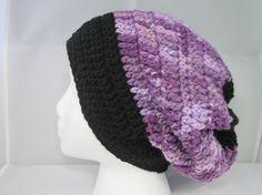 purple slouchy by HatsForHumansByCarol on Etsy