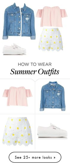 """Summer outfit!"" by vocaloidheart712 on Polyvore featuring Dolce&Gabbana, River Island, Topshop, Superga, Summer, summertime and summeroutfit"