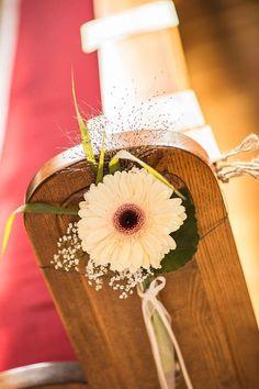 Kirchendeko, vintage wedding, Gerbera/Daisy