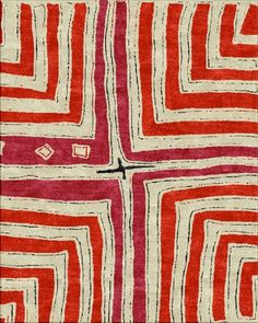 kuba cross rouge, robin gray design, Africa collection, rugs