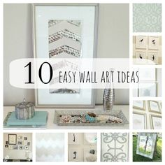 [DIY] 10 awesome DIY ideas for wall décor. Included in this blog post is: 1. DIY Sequin Art, 2. Bird Silhouette Art, 3. Skeleton Key Art, 4. Large Scale Art, 5. DIY Striped Mirror, 6. Chevron Art, 7. Peacock Feather Art, 8. Moroccan Stencil Art, 9. How to Hand a Gallery Wall, 10. Paint Chip Art.