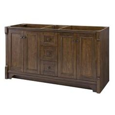 Home Decorators Collection Creedmoor 60 in. W x 34 in. H Vanity Cabinet Only in Walnut CDNV6021D at The Home Depot - Mobile