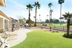 Golf course lot home in Sun Lakes AZ in gated Ironwood Country Club