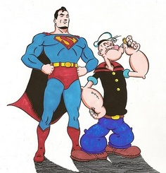Awesome Duo! Superman & Popeye