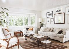 House Tour A Relaxed Sonoma Ranch in Neutrals is part of Neutral Living Room Warm - This Sonoma ranch house tour with whitewashed walls, warm midcentury modern touches, and perfectly styled living areas is inviting through and through Living Room Designs, Living Room Decor, Living Rooms, Country Style Living Room, Mid Century Living Room, Family Room Design, Diy Décoration, Living Room Inspiration, Home Design