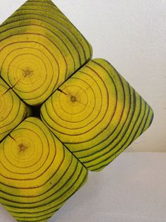 YELLOW Stained Reclaimed Wooden Trivet or Hot Pad by CharleneBrown, $ ...