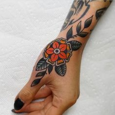 Traditional Apparel Co. on Thoughts on this hand tattoo Comment below! 42 Tattoo, Arrow Tattoo, Piercing Tattoo, Piercings, Crab Tattoo, Tattoo Drawings, Traditional Tattoo Woman, Traditional Tattoo Flowers, American Traditional Tattoos