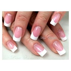 Pink and White Gel Nails ❤ liked on Polyvore featuring beauty products, nail care, nail treatments and gel nail care