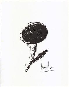 Bernard Buffet - Flower