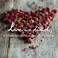 Love is kind...