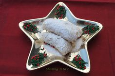 Slovak Kiffels (Nut Roll Cookies) by Sharing A to Z Candy Recipes, Cookie Recipes, Dessert Recipes, Yummy Treats, Sweet Treats, Christmas Goodies, Christmas Time, No Bake Cookies, Stick Of Butter