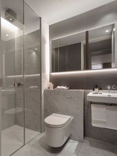 Turkcell maltepe plaza by mimaristudio in istanbul this bathroom - Smart Indirect Lighting Helps The Smoothly Textured And