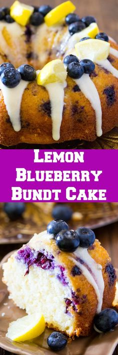 This Lemon Blueberry Cake with Cream Cheese Icing is soft and moist. Every bite of this lemon blueberry cake is bursting with juicy blueberries and lemon.