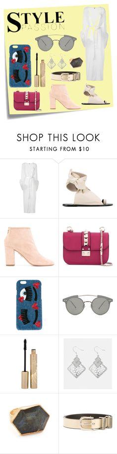 """Fashion for women's"" by denisee-denisee ❤ liked on Polyvore featuring Post-It, Gilda & Pearl, Isabel Marant, Aquazzura, Valentino, Chiara Ferragni, Spitfire, Stila, Avenue and NAKAMOL"